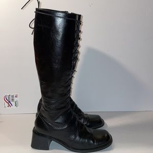 Herman Geist Vintage Riding lace up Boots